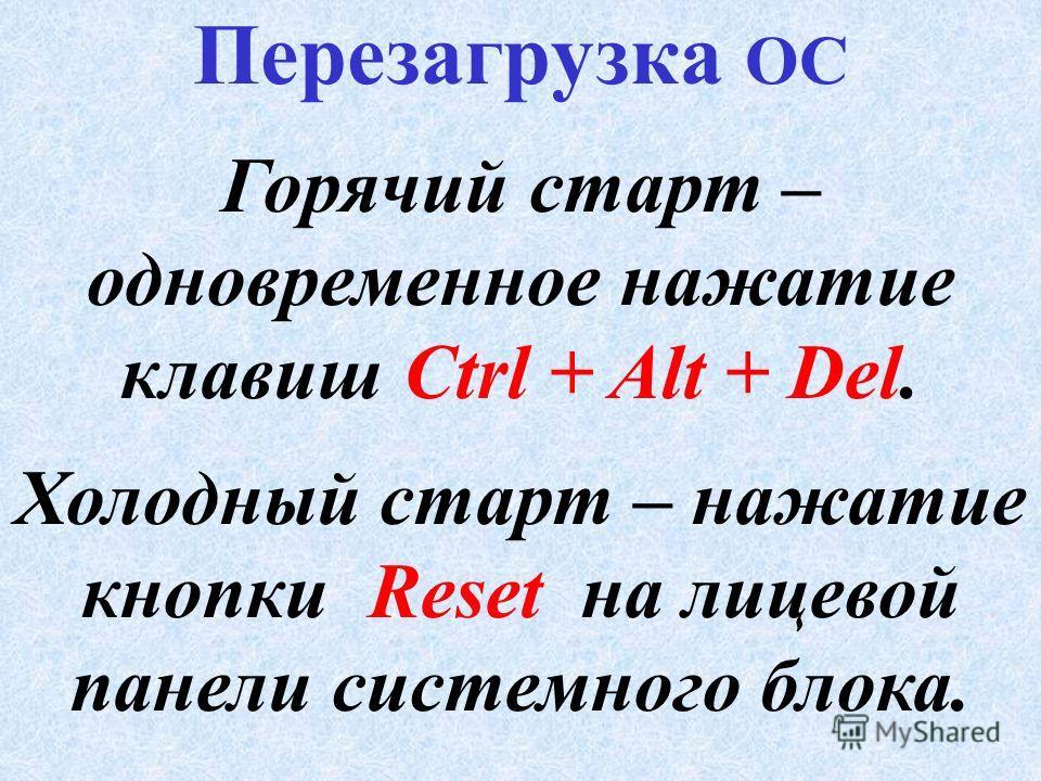 Загрузка ОС BIOS Системный диск Master Boot Файлы ОС Оперативная память Master Boot Модули ОС