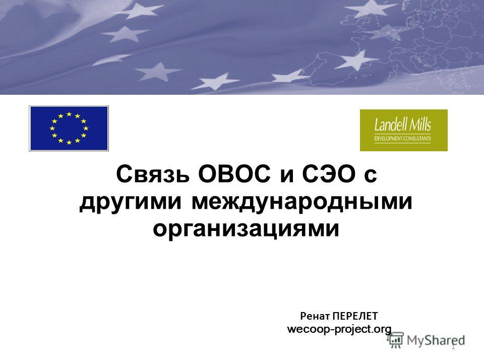 Связь ОВОС и СЭО с другими международными организациями 1 Ренат ПЕРЕЛЕТ wecoop-project.org