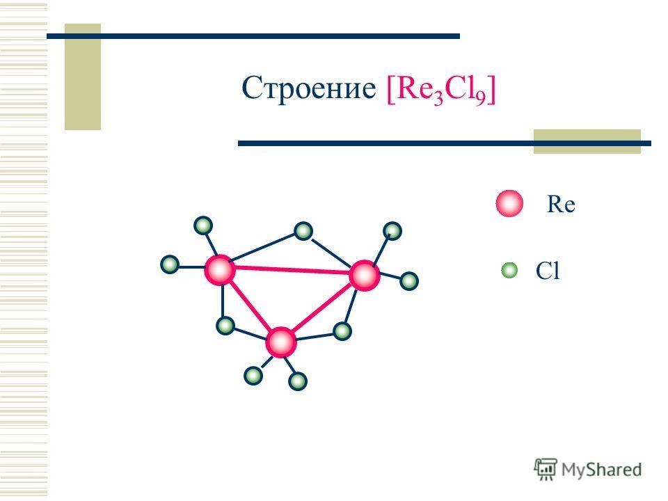 Строение [Re 3 Cl 9 ] Re Cl