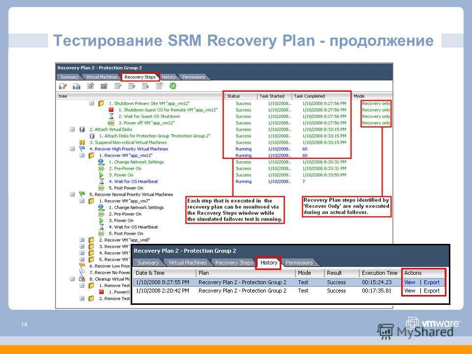 14 Тестирование SRM Recovery Plan - продолжение