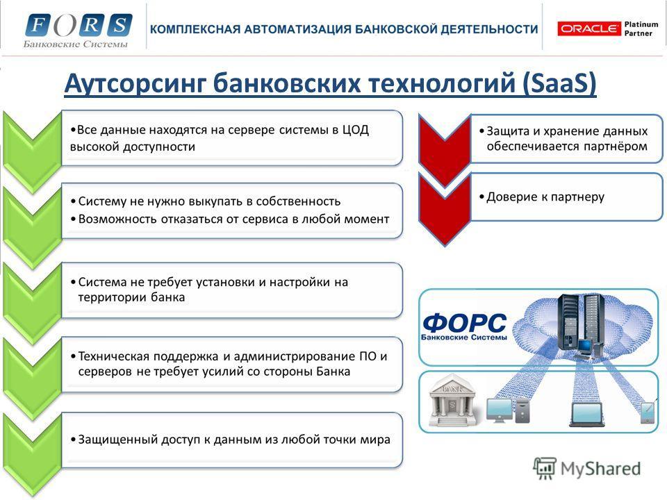 Аутсорсинг банковских технологий (SaaS)
