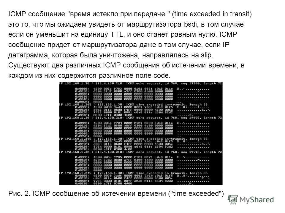 ICMP cообщение