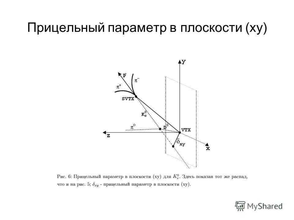 Прицельный параметр в плоскости (xy)