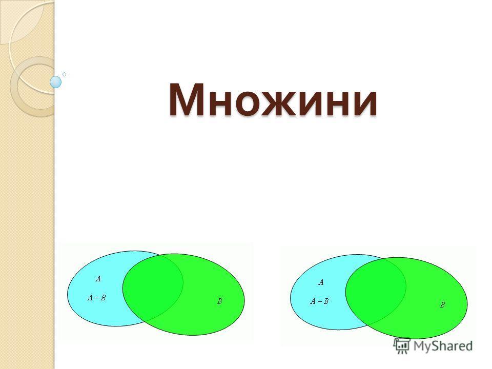 Множини