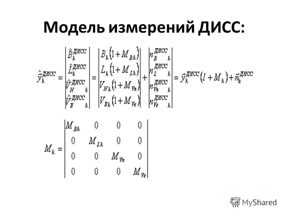 Модель измерений ДИСС: