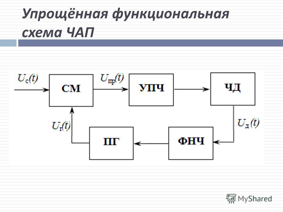 Упрощённая функциональная схема ЧАП