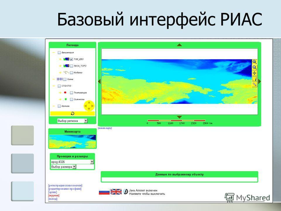 Базовый интерфейс РИАС