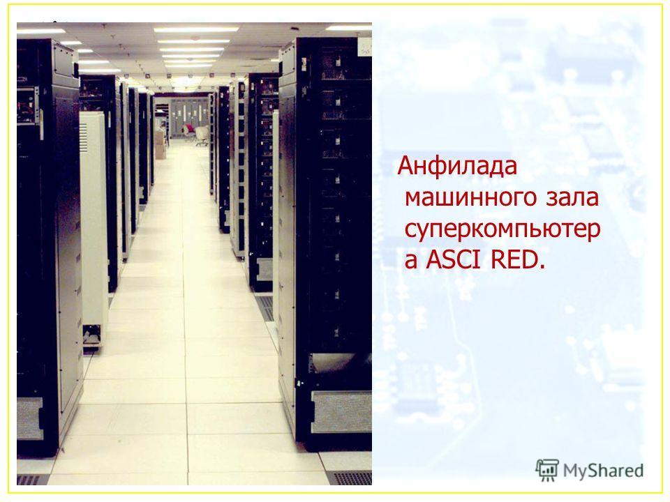 Анфилада машинного зала суперкомпьютер а ASCI RED.