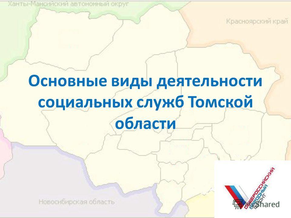 Основные виды деятельности социальных служб Томской области
