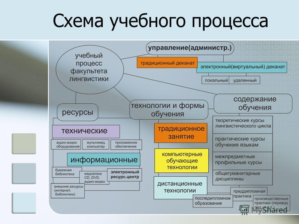 Схема учебного процесса