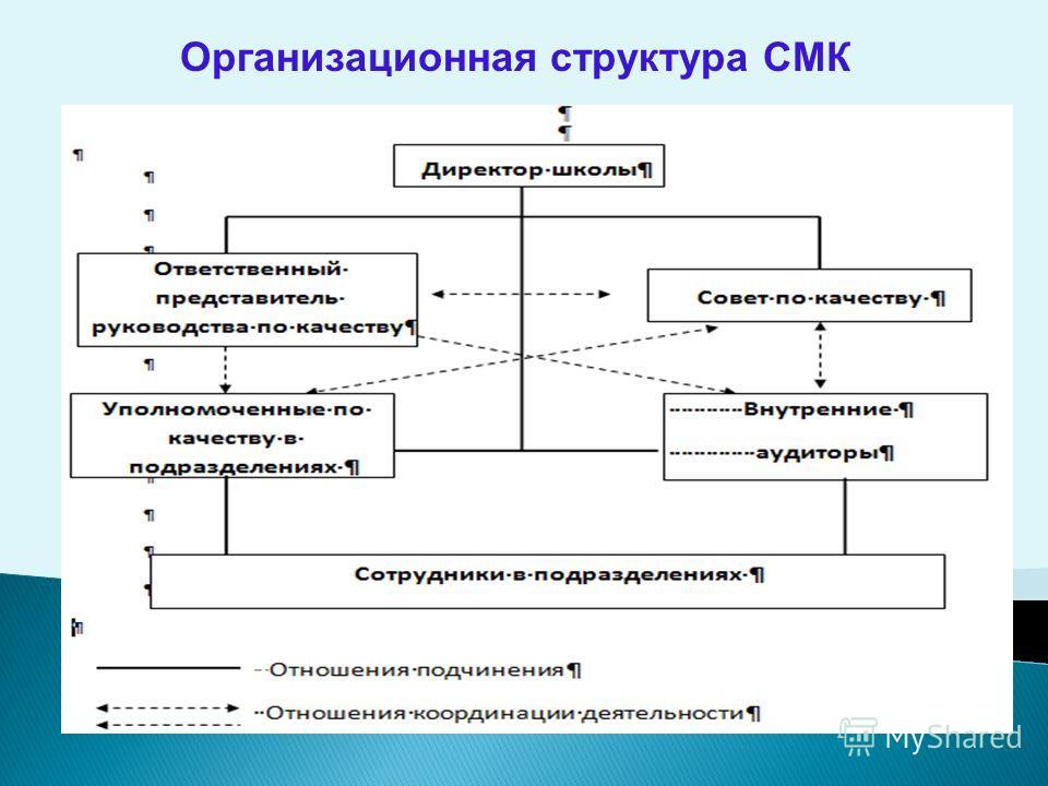 Организационная структура СМК