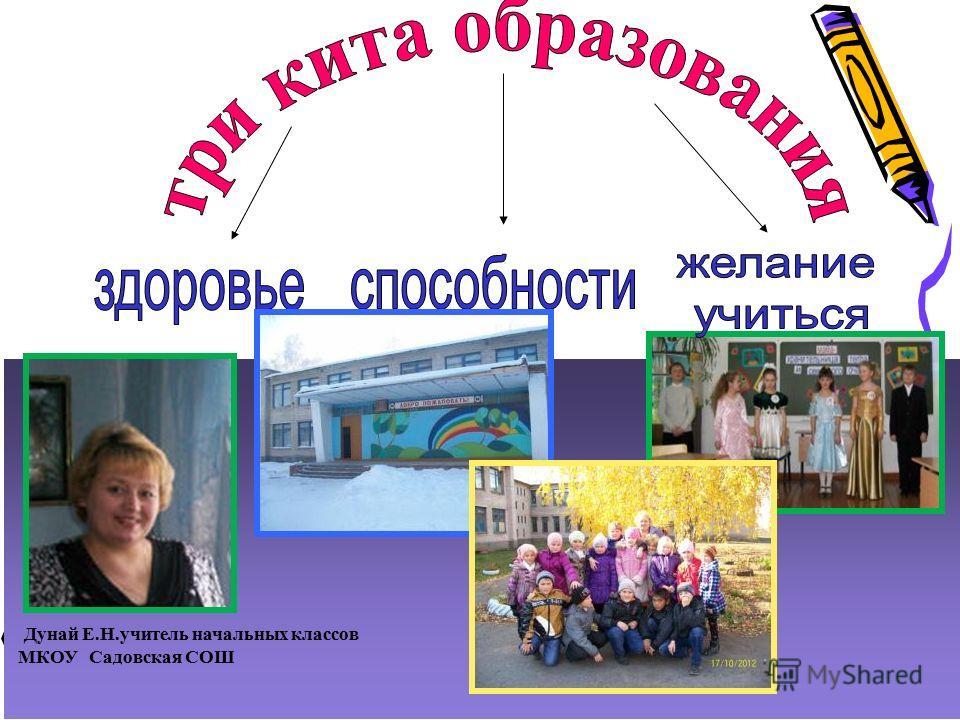 Дунай Е.Н.учитель начальных классов МКОУ Садовская СОШ