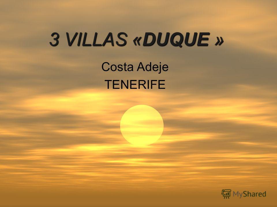 3 VILLAS «DUQUE » Costa Adeje TENERIFE