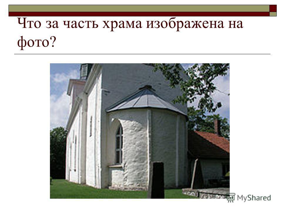 Что за часть храма изображена на фото?