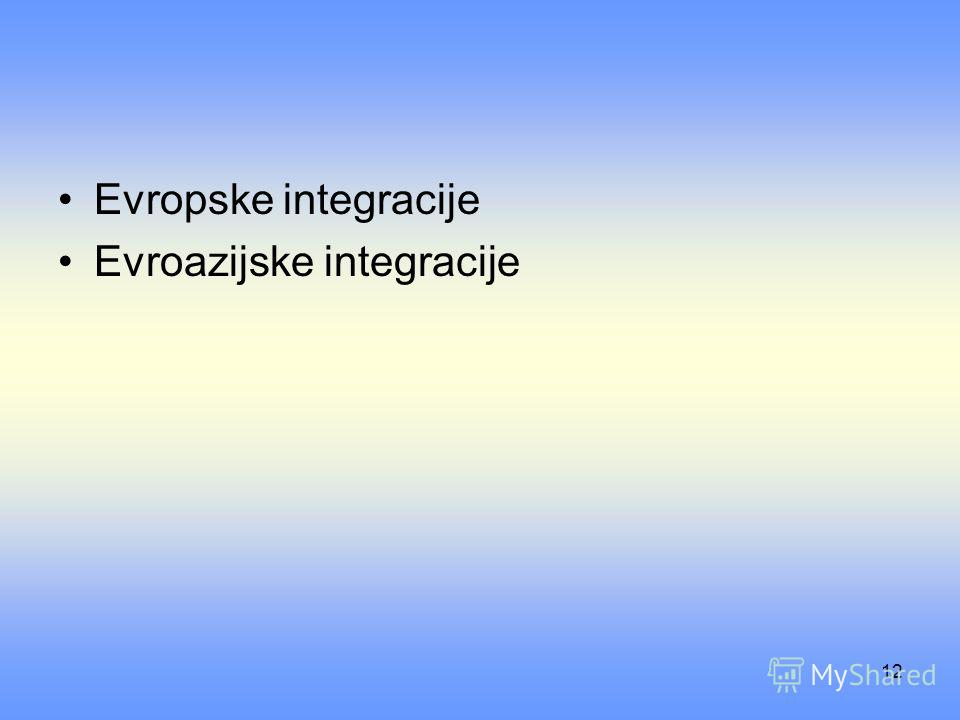 12 Evropske integracije Evroazijske integracije