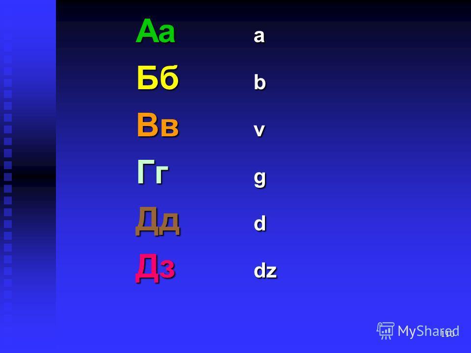 109 zusätzlich zur russischen Schrift gibt es den Buchstaben zusätzlich zur russischen Schrift gibt es den Buchstabenў nichtsilbisches nichtsilbisches [u ] nach Vokalen vor Konsonanten oder im Wortauslaut nach Vokalen vor Konsonanten oder im Wortausl
