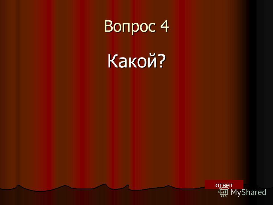 Вопрос 4 Какой? ответ