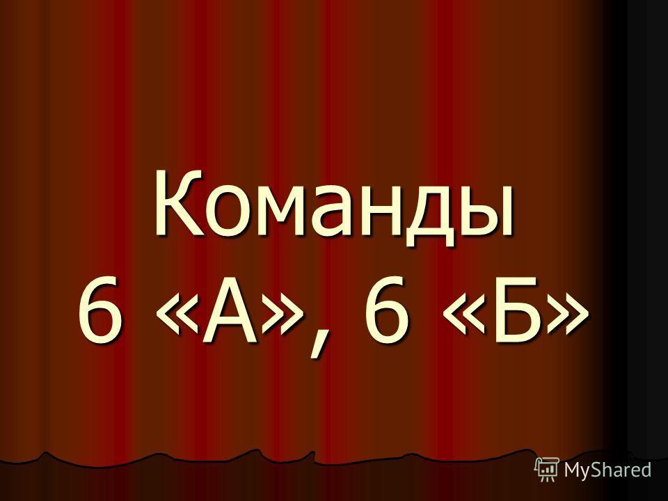 Команды 6 «А», 6 «Б»