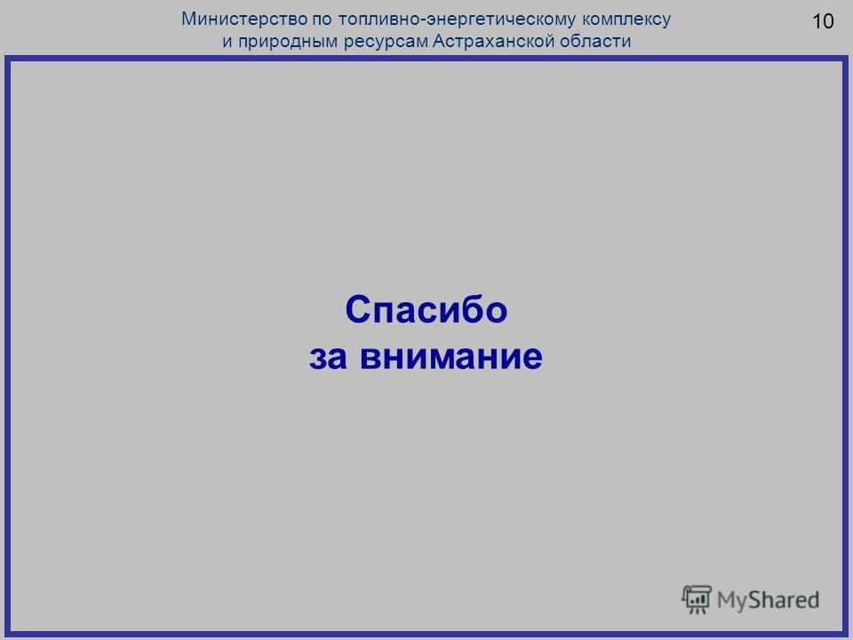 10 Министерство по топливно-энергетическому комплексу и природным ресурсам Астраханской области Спасибо за внимание