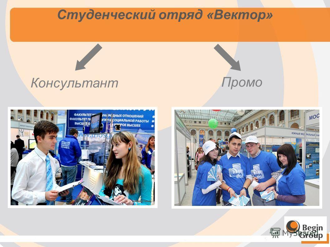 Студенческий отряд «Вектор» Консультант Промо