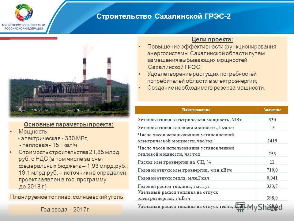 27 Стоимость проекта и показатели эффективности: Стоимость достройки 2 очереди, с учётом НДС - 4,0 млрд. руб. (0,15 млрд.руб. – собственные средства; 3,85 млрд.руб. – средства ФЦП и заёмные средства) Год ввода 2014 г. Цели проекта: Покрытие дефицита