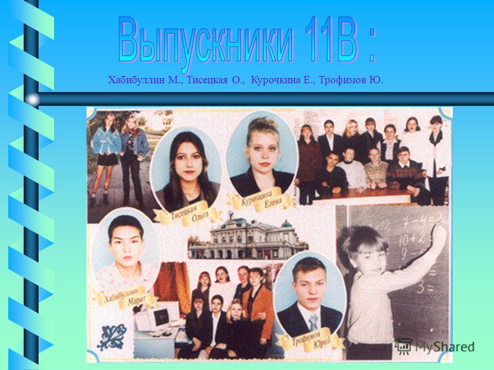 Хабибуллин М., Тисецкая О., Курочкина Е., Трофимов Ю.