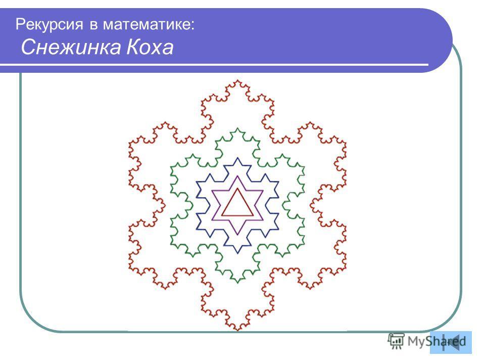 Рекурсия в математике: Снежинка Коха