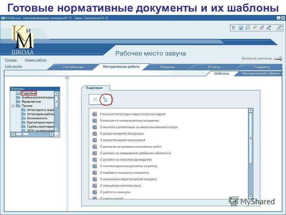 Готовые нормативные документы и их шаблоны