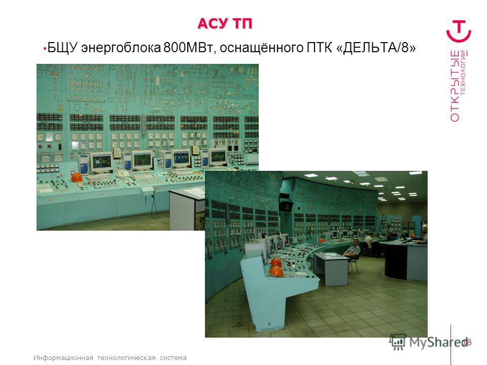 18 Информационная технологическая система БЩУ энергоблока 800МВт, оснащённого ПТК «ДЕЛЬТА/8» АСУ ТП