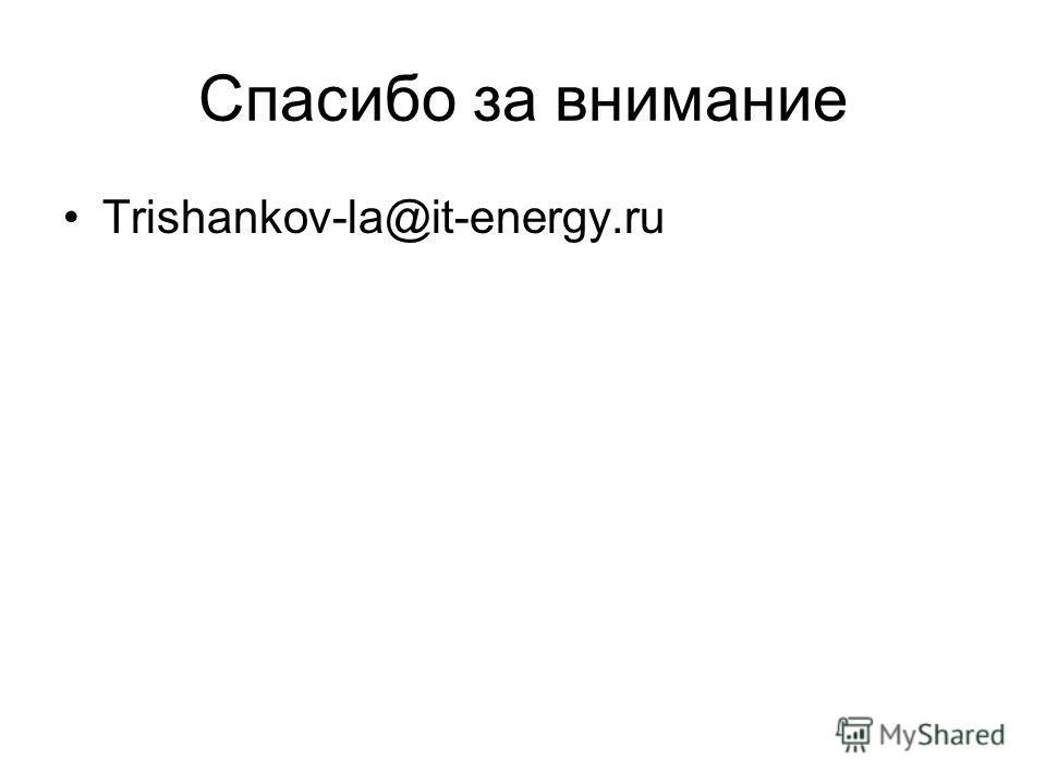 Спасибо за внимание Trishankov-la@it-energy.ru