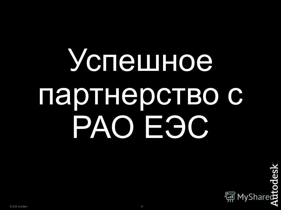 18© 2006 Autodesk Успешное партнерство с РАО ЕЭС