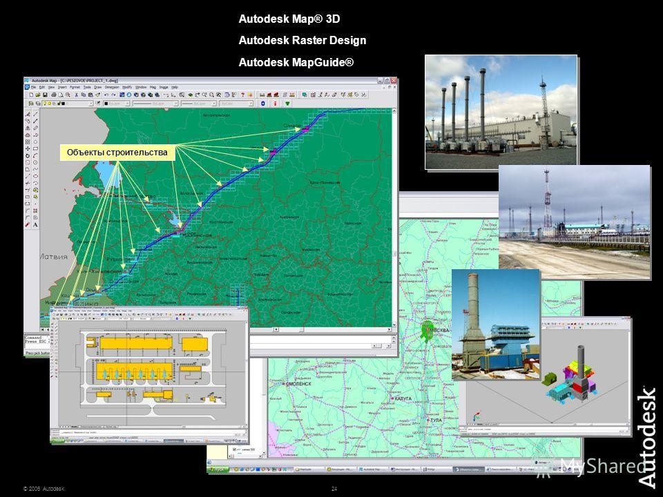24© 2006 Autodesk Объекты строительства Autodesk Map® 3D Autodesk Raster Design Autodesk MapGuide®