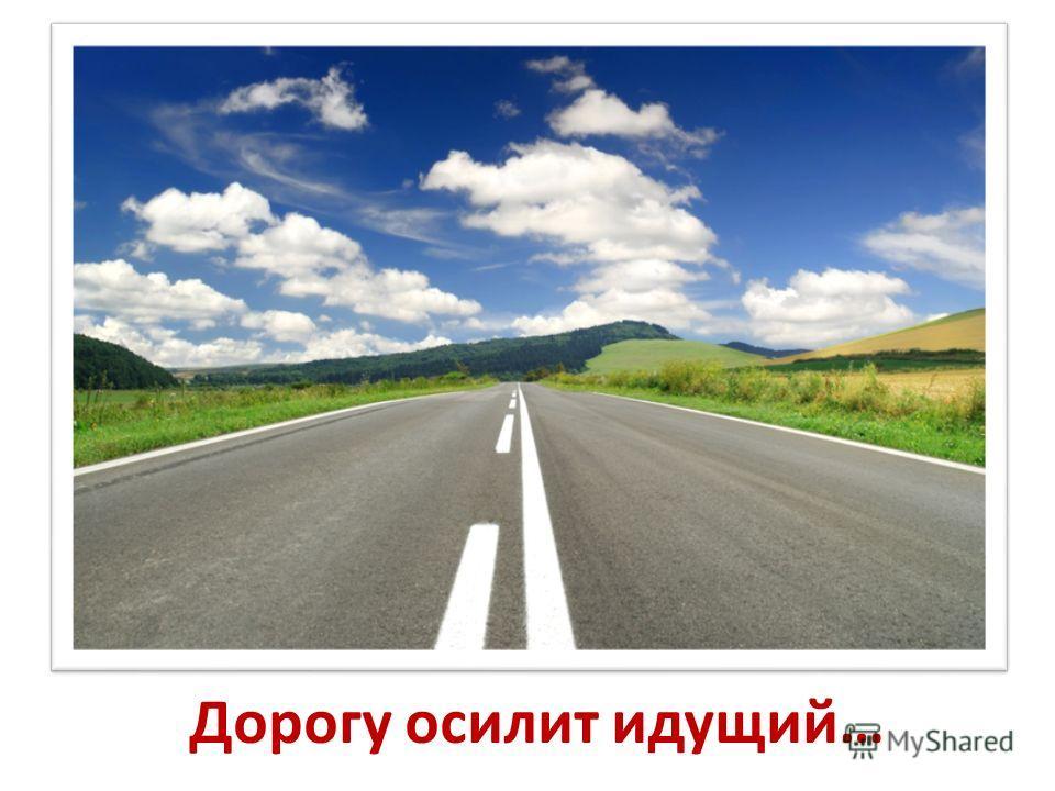 Дорогу осилит идущий…