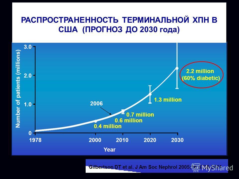 РАСПРОСТРАНЕННОСТЬ ТЕРМИНАЛЬНОЙ ХПН В США (ПРОГНОЗ ДО 2030 года)