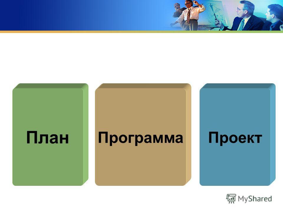 План ПроектПрограмма