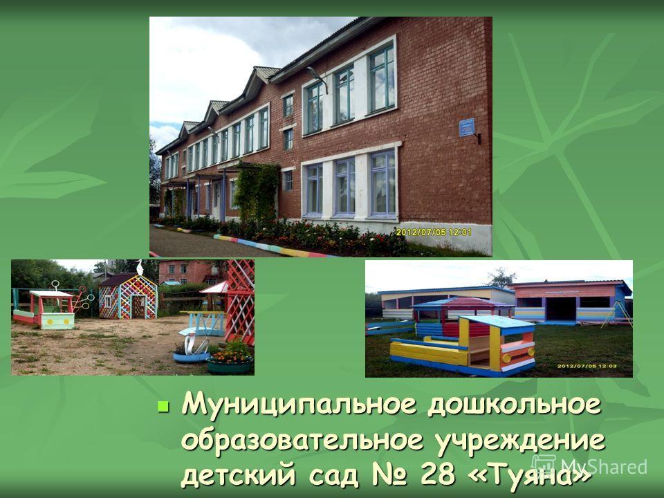Муниципальное дошкольное образовательное учреждение детский сад 28 «Туяна» Муниципальное дошкольное образовательное учреждение детский сад 28 «Туяна»