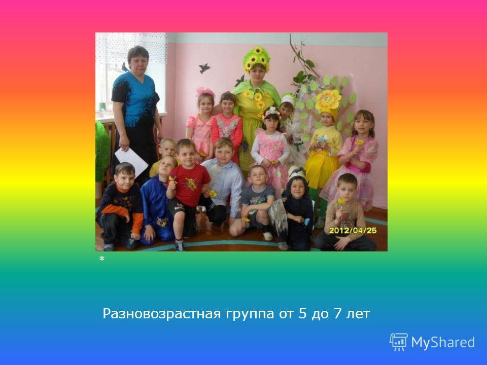 Разновозрастная группа от 5 до 7 лет *