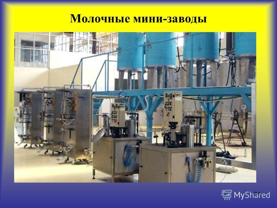 34 Молочные мини-заводы