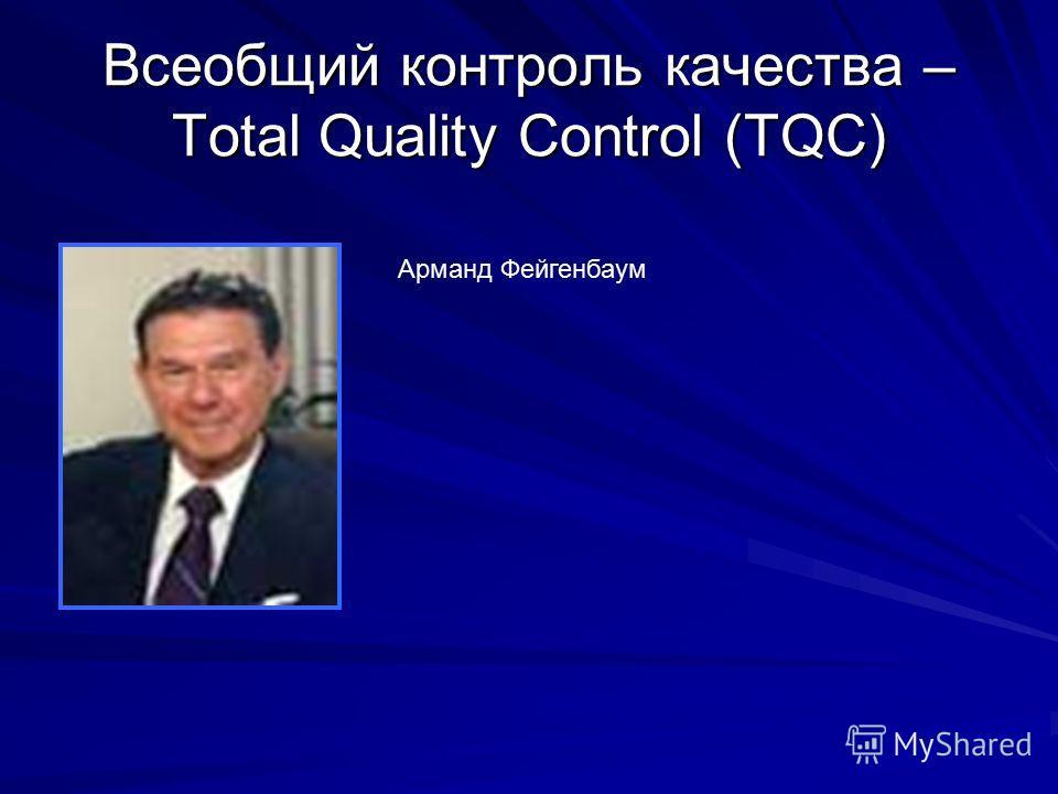 Всеобщий контроль качества – Total Quality Control (TQC) Арманд Фейгенбаум