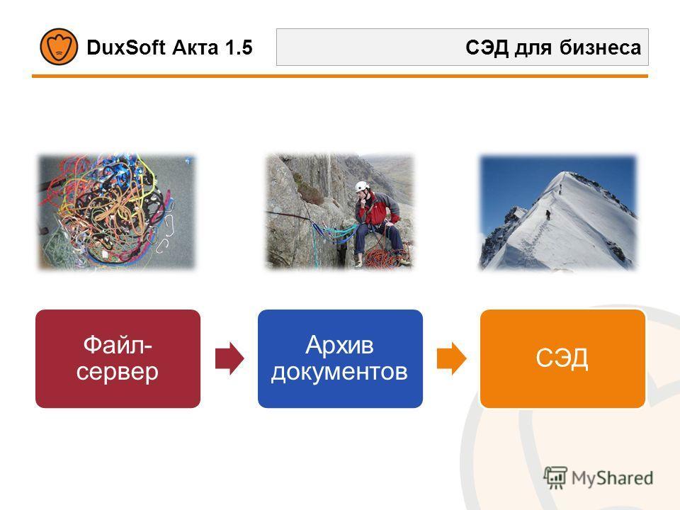 DuxSoft Акта 1.5 СЭД для бизнеса Файл- сервер Архив документов СЭД