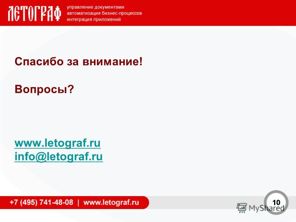 10 Спасибо за внимание! Вопросы? www.letograf.ru info@letograf.ru