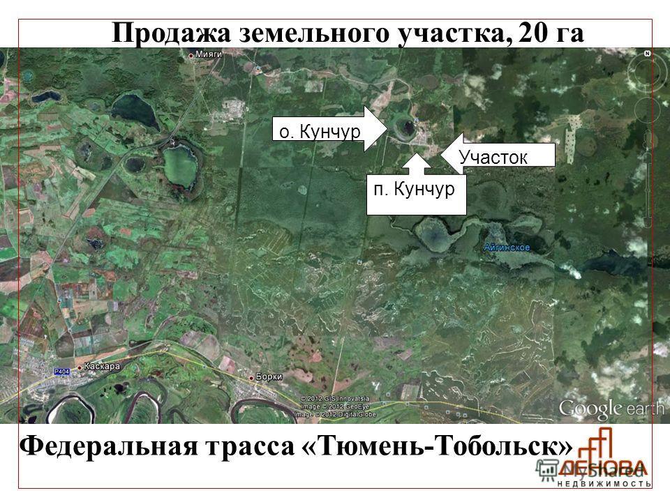 Продажа земельного участка, 20 га Федеральная трасса «Тюмень-Тобольск» Участок п. Кунчур о. Кунчур