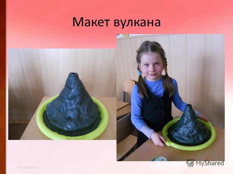 Макет вулкана