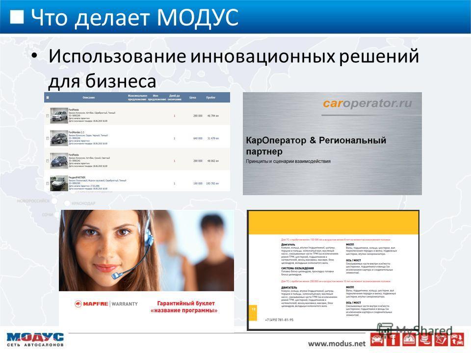 Что делает МОДУС Использование инновационных решений для бизнеса 11