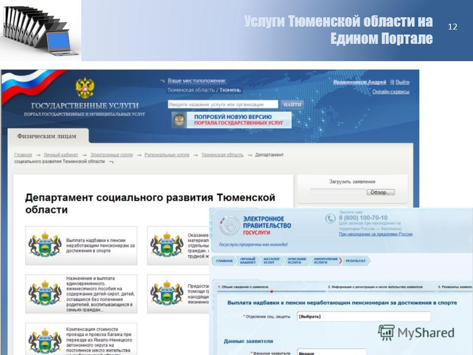 Услуги Тюменской области на Едином Портале 12
