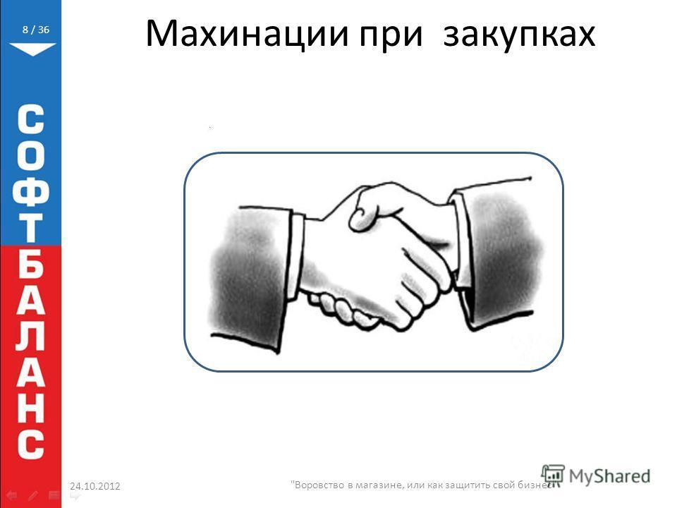 / 36 Махинации при закупках 24.10.2012 Воровство в магазине, или как защитить свой бизнес 8