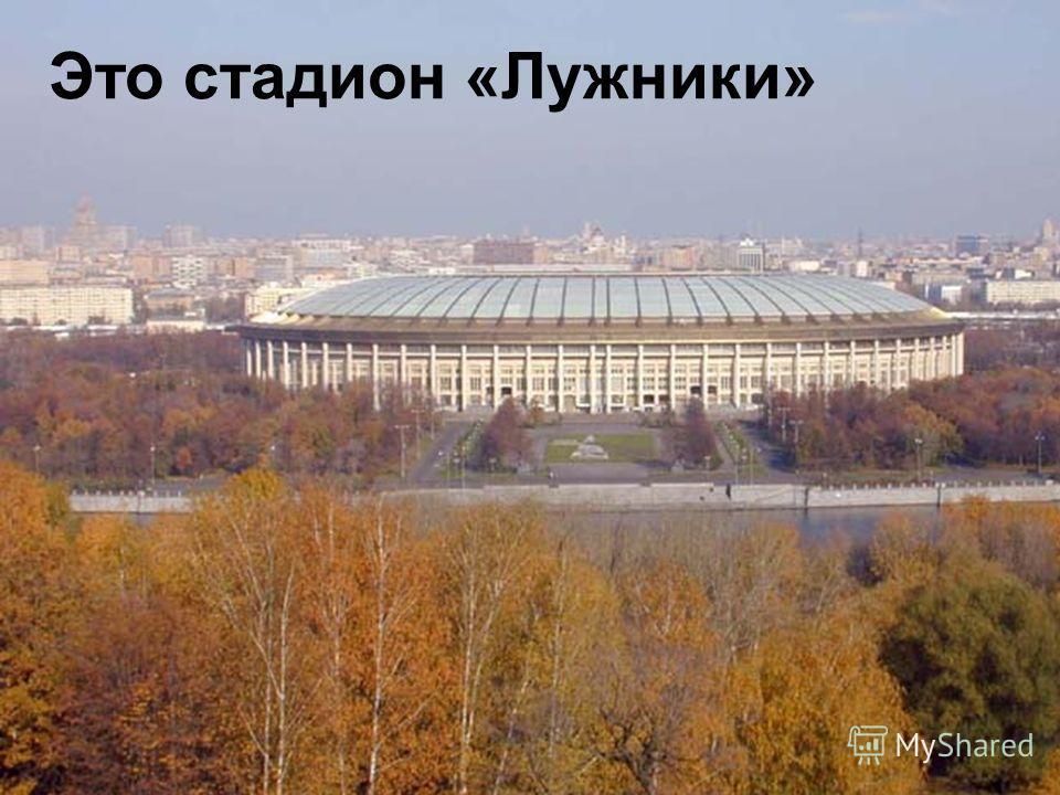 Это стадион «Лужники»
