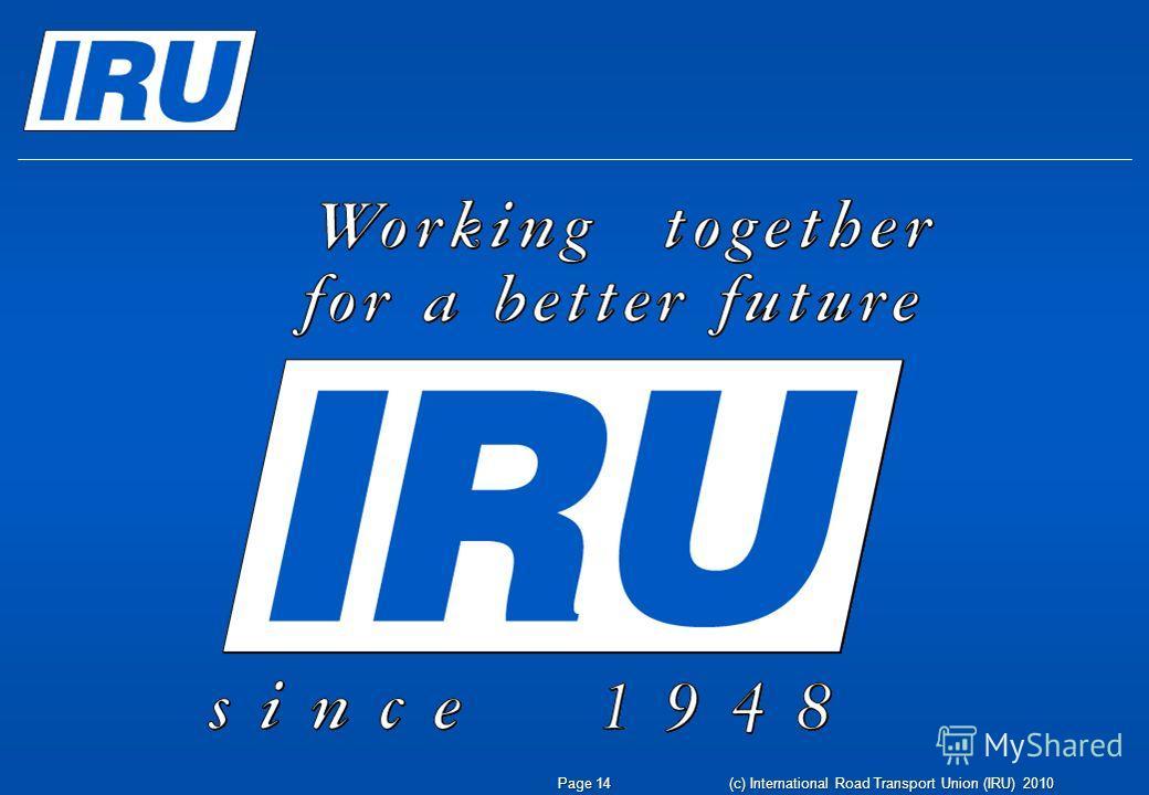 Page 14(c) International Road Transport Union (IRU) 2010