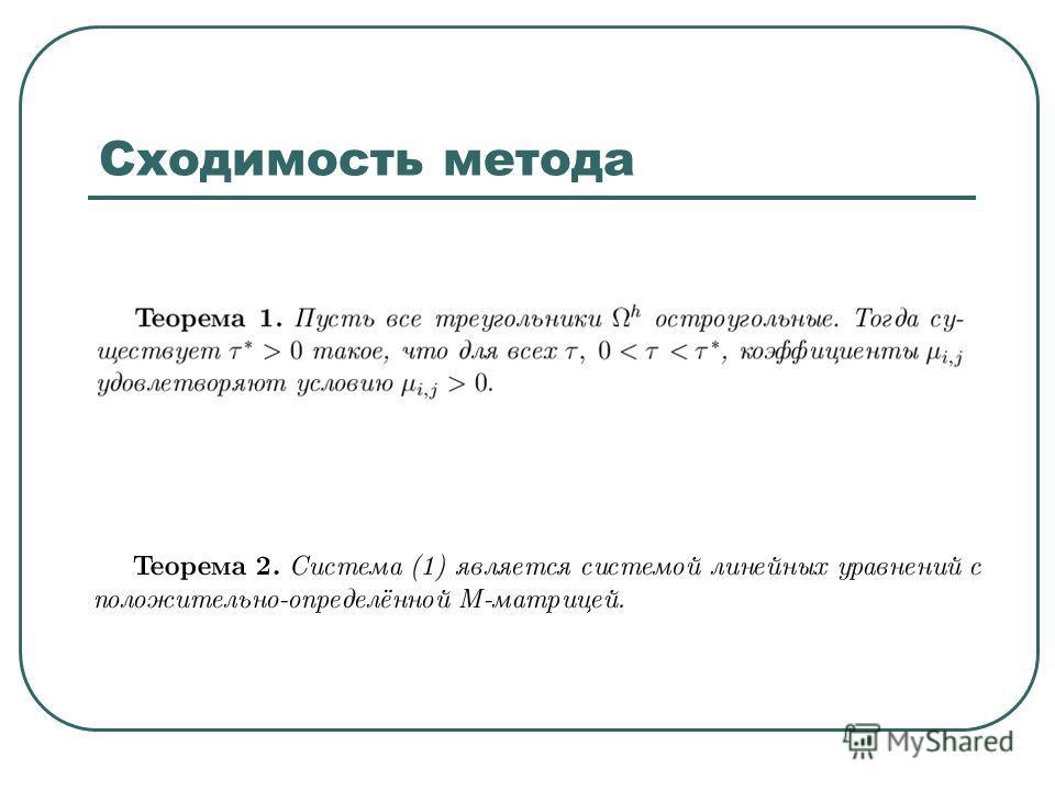 Сходимость метода