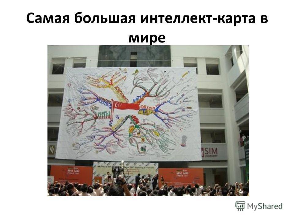 Самая большая интеллект-карта в мире